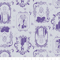 Disney Villains Frames Light Purple Camelot 100% Cotton fabric by the yard