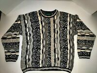 Vintage Tundra Canada Men's Sweater Coogi Cosby Biggie Style hip hop 90s Sz L