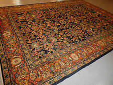 Superb rug antique Persian Sultanabad Mahal carpet lovely deep colors 8.6x12.2