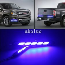 2*  flexible 12V Blue Waterproof Car COB LED DRL Fog Driving Lights Lamp 5leds