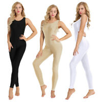 Women's Spandex Dance Yoga Gymnastics Catsuit Tank UNITARD LEOTARD Bodysuit Pant