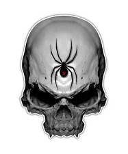 2 Black Widow Skull Decal - Spider Skull Sticker Venom laptop ipad kindle decals