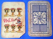 15217 Carte da gioco Comitato civico 1951 JACOVITTI - originale - Sei di coppe