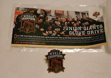 SGA SF 2012 World Series Champion PIN Junior Giants Glove Drive San Francisco