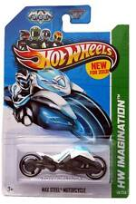 2013 Hot Wheels #59 HW Imagination Future Fleet Max Steel Motorcycle white