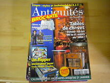 REVUE ANTIQUITE BROCANTE N° 37 / FLIPPER ANCIEN / NAPPE DE FETE / TABLE CHEVET