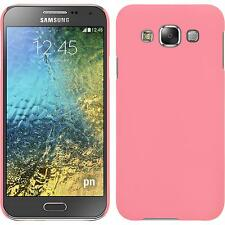 Hardcase Samsung Galaxy E5 rubberized pink Cover + protective foils