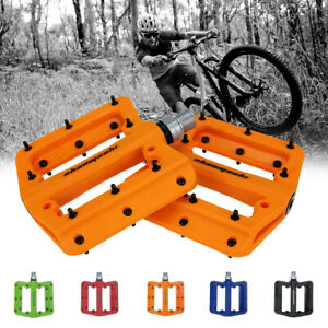 MTB BMX Bike Pedals Nylon Bicycle Pedals Racing Cycle Flat Plastic Pedal