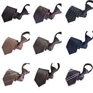Men Zipper 8CM Wide Business Wedding Party Paisley Dots Necktie Formal Neck Tie