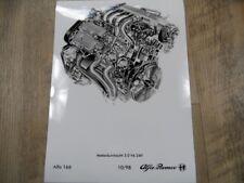 Zeichnung  ALFA ROMEO Alfa 166 Motordurchsicht 3.0 V6 24V 10/98 SR1017