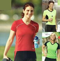 Damen Laufshirt Shirt Fitnessshirt feuchtigkeitsregulierend atmungsaktiv