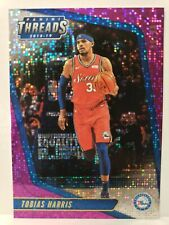 3x 2018-19 Panini Threads Dazzle Tobias Harris #21 Purple 58/99 & 2 Silvers 76er