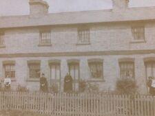 "Vintage Real Photo Postcard: People #B505: Ladies Outside ""Gas?"" Cottages"