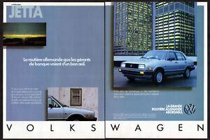 1986 VOLKSWAGEN Jetta GL 4-door Vintage Original 2-pages Print AD French Canada