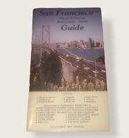 San Francisco Places Of Interest Restaurants, Hotels, & Maps Guide Book 1980's