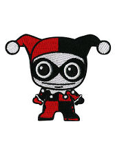 """DC COMICS CHIBI JESTER HARLEY QUINN Embroidered IRON ON Patch Badge 3"""" x 2 1/2"""""""