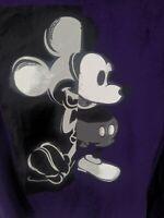 Disney Classic Mickey Mouse. PurpleMen Women Unisex V-Neck Top T-Shirt XL