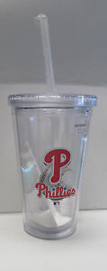 MLB Philadelphia Phillies Commuter Tumbler Cup & Straw