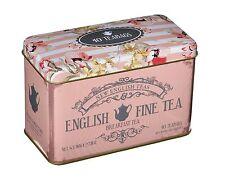 Nouveau Anglais Thé English Breakfast Tea 40 sachets de thé en souvenirs rose Ca...