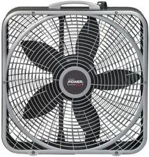 "BOX FAN 20"" Power Plus Weather Shield Motor Air Cooler Durable Steel Indoor"
