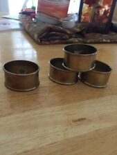 BRASS NAPKIN RINGS MADE IN INDIA SET OF FOUR