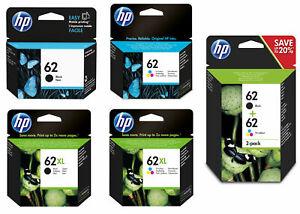 Original HP 62 / 62XL Black & Colour Ink Cartridges For ENVY 5540 Printer