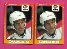 2 X VERY RARE CANADIENS DENIS SAVARD JOFA PROMO  CARD  (INV# C7127)