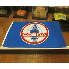 Shelby Cobra Flag Banner Sign garage hotrod ford mustang GT500 SVT USA racing v8