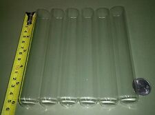 6 big NEW glass test tubes tube, Borosilicate (Pyrex equiv) large 25 x 150