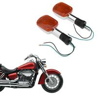 1Pair Motorcycle Turn Signal Lights for HONDA SHADOW VT VLX REBEL CMX250