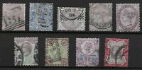 Small Group Of QV Surface Printed Stamps. Fine Used. 1d.Lilac UM.   Ref:07162