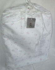 RACHEL ASHWELL COUTURE Full FITTED Sheet (1)  PINK FLORAL BLUE SHABBY CHIC