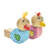 1 Pcs Wooden Bird Whistles Colorful Wooden Toy Creative Painting For Children SL