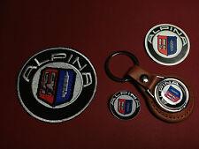 ALPINA (BMW), LEATHER KEY RING,  BADGE & PATCH SET + FREE PHONE STICKER