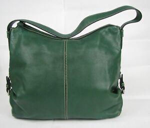 Michael Kors Green Leather HOBO Shoulder BAG B 0808 Pebbled Handbag PURSE