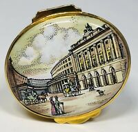 Crummles & Co English Enamels Street Scene Trinket Box