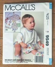 Vintage McCall's  Newborn Infants Panties Bootees Bib Pattern 9549 Sz NB-M UNCUT