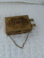 VINTAGE ZELL FIFTH AVE DOUBLE COMPACT W/LIPSTICK & COIN HOLDER