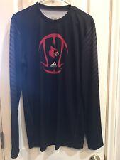NEW Men's Adidas Louisville Cardinal Basketball Pullover Medium Polyester