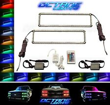 88-98 Chevy GMC Truck Color Changing LED RGB Lower Headlight Halo Rings Pair IR