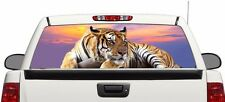 Tiger Art rear window graphics Decal Sticker 50/50 view 66''x22'' Truck SUV