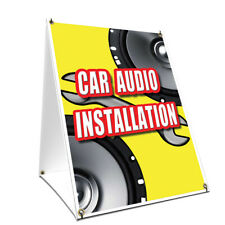 A-frame Sidewalk Sign Car Audio Installation Double Sided Graphics