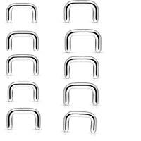 Wholesale Lot 20 Pc 16g 316L Surgical Steel Nose Septum Piercing Retainers