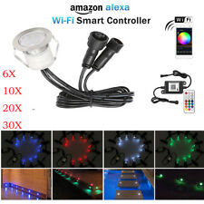 Wifi Controlled 30mm 12V RGB LED Decking Rail Kitchen Step Light for Smart Phone
