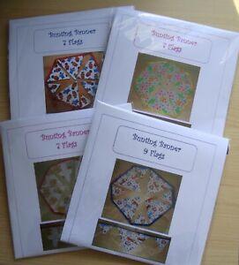 Bunting.Handmade. Double Sided Fabric Flags. New / Handmade.
