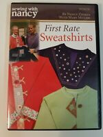 Sewing with Nancy: FIRST RATE SWEATSHIRTS (DVD, 2006) Nancy Zieman