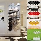 12 Package 3D Mirror Hexagon Vinyl Wall Sticker Decal Home Wall Decor Art DIY