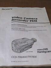 Sony CCD-TR780E Hi8 Camcorder