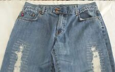 SEVEN 7 Womens Size 16 DISTRESSED BLUE JEANS