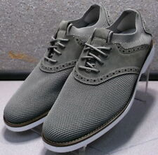 591779 MS50 Men's Shoes Size 11 M Gray Fabric/Leather Lace Up Johnston & Murphy